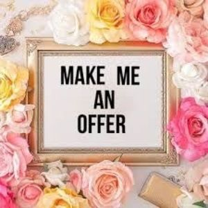 Reasonable offers welcome!